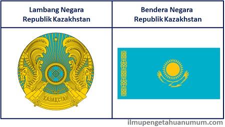 Lambang Negara Kazakhstan dan Bendera Kazakhstan