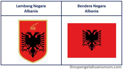 Lambang Negara Albania dan Bendera Negara Albania