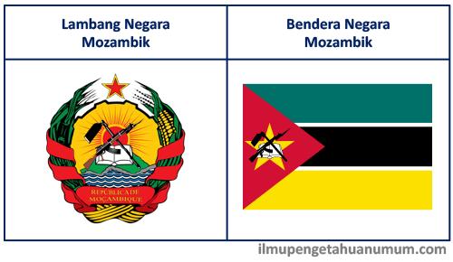 Lambang Negara Mozambik dan Bendera Mozambik