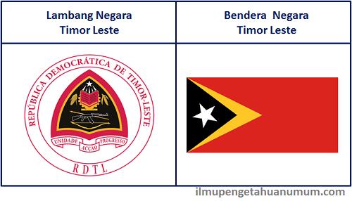 Lambang Negara Timor Leste dan Bendera Timor Leste