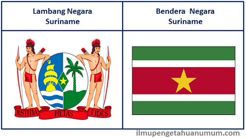 Lambang Negara Suriname dan Bendera Negara Suriname