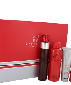 Perry Ellis 360 Red by Perry Ellis - Gjafasett - 3.4 oz Eau De Toilette Spray + .25 oz Mini EDT Spray + 6.8 oz Body Spray + 3 oz Shower Gel f. herra