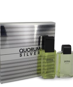 Quorum Silver by Puig - Gjafasett - 3.4 oz Eau De Toilette Spray + 3.4 oz After Shave f. herra