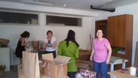 Preparazione festa finale del Punto Verde