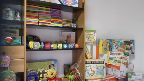 magazzino giocattoli