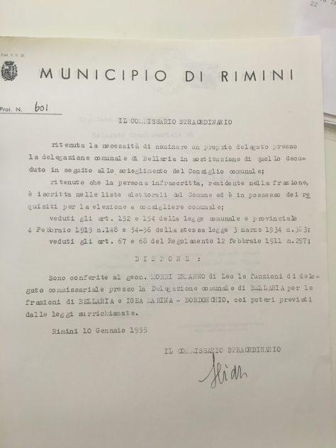 19550110 conferimento delega a morri