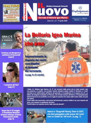 La copertina de Il Nuovo n. 8 del 17 aprile 2009