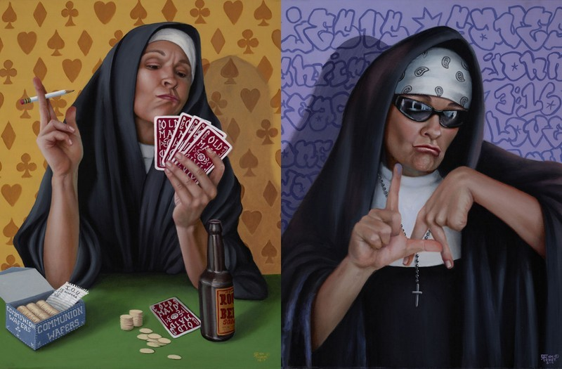 modern art Modern Art: Naughty Nuns By Christina Ramos Naughty Nuns By Christina Ramos 2