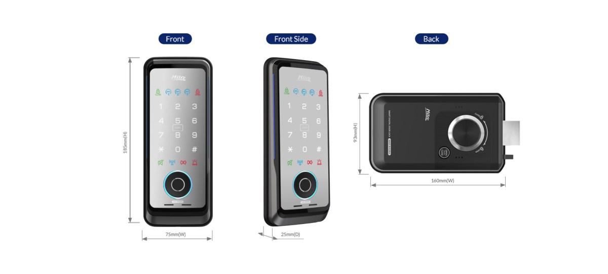 美樂電子鎖 mi-510f 台中電子鎖安裝 產品規格