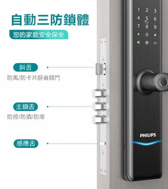 飛利浦電子鎖7300 philips 7300 台中電子鎖安裝推薦7