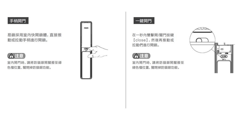 飛利浦電子鎖說明書 快速使用指南6