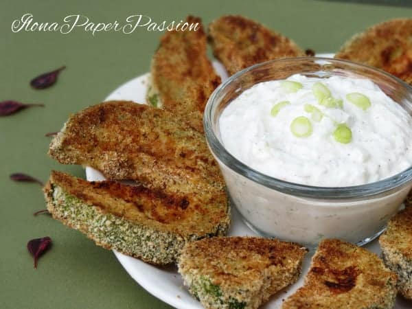Baked Zucchini with Garlic Dip by ilonaspassion.com