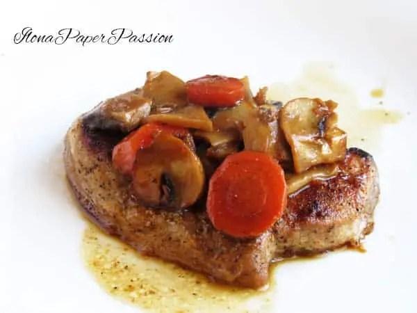 Pork with Mushrooms & Carrots by ilonaspassion.com