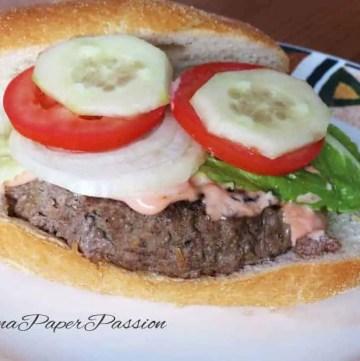 Hamburger Recipe with Veggies and Sauce by ilonaspassion.com