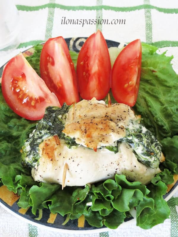 stuffed chicken with spinach and cream cheese