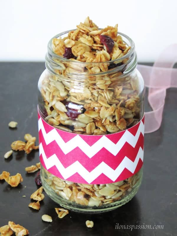 Maple Sunflower Seeds Granola