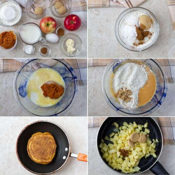 Step by step on how to make pumpkin pancakes, when to add all ingredients and how to cook by ilonaspassion.com I @ilonaspassion