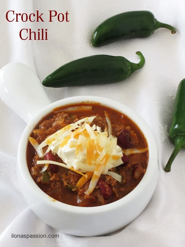 Crock Pot Chili by ilonaspassion.com