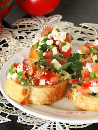 Cilantro Feta Cheese Mini Appetizer Sandwiches by ilonaspassion.com