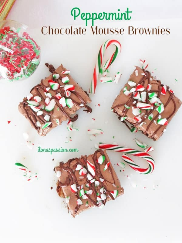 The Best Peppermint Chocolate Mousse Brownies by ilonaspassion.com