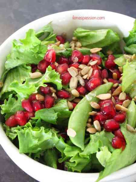 Pomegranate Sunflower Seeds Salad by ilonaspassion.com