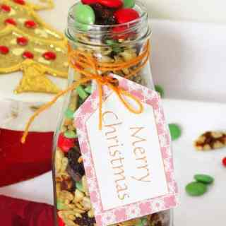 Trail Mix Recipe {Gift Idea} + Free Printable Christmas Tags