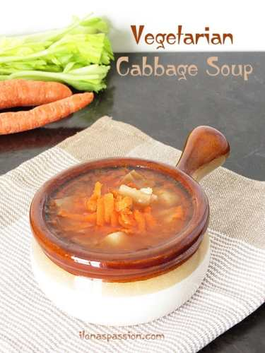 The Best Vegetarian Cabbage Soup by ilonaspassion.com