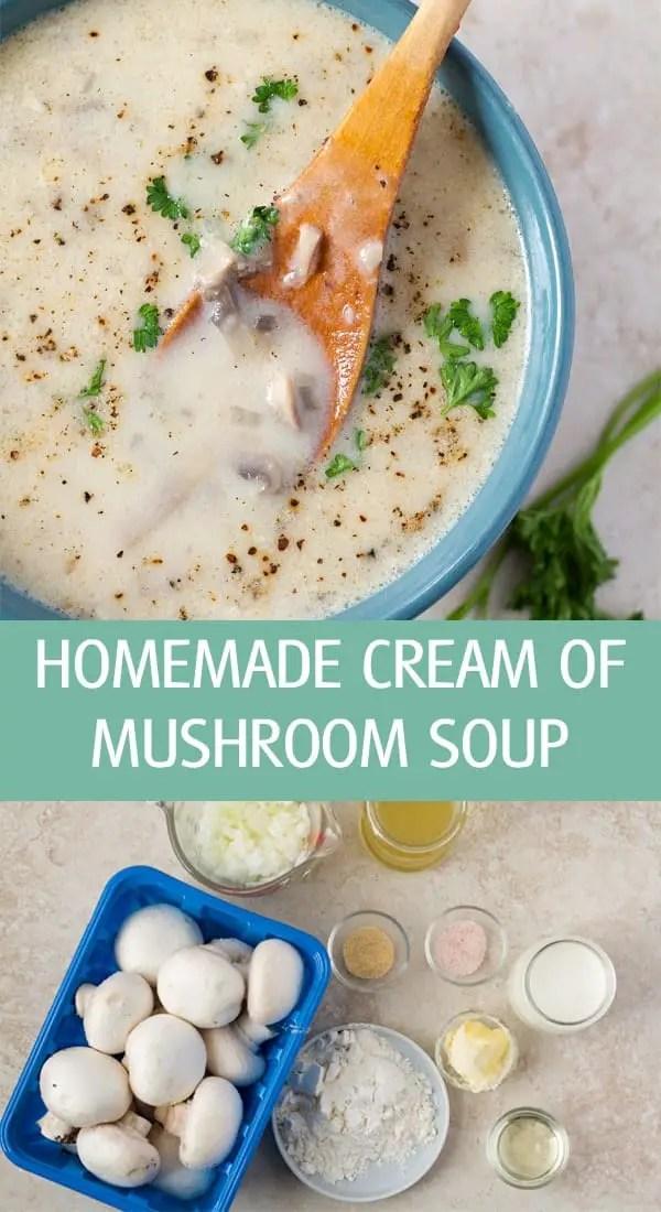 Onion, flour, garlic powder, whipping cream to make a thick liquid.