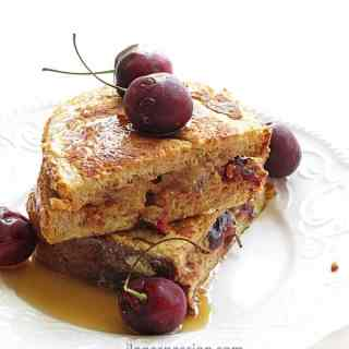 Cherry Almond Butter French Toast