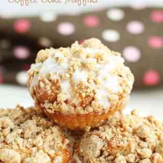 Greek Yogurt Cinnamon Coffee Cake Muffins - Healthier coffee cake muffins recipe made with greek yogurt, cinnamon and brown sugar crumble topping. Delicious coffee cake muffins are great for breakfast! by ilonaspassion.com @ilonaspassion