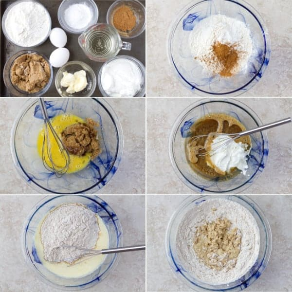 Step by step on how to make coffee cake muffins with greek yogurt and cinnamon by ilonaspassion.com I @ilonaspassion