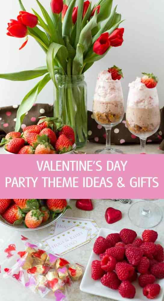 Valentine's Day party theme ideas with recipes for dinner, desserts and cute edible homemade gifts. valentine's Day table set up by ilonaspassion.com I @ilonaspassion