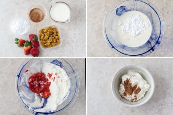 Step by step on how to make chocolate mousse without eggs with strawberries and cookies by ilonaspassion.com I @ilonaspassion