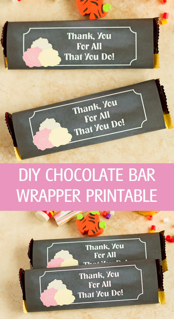 Printable candy wrappers for Hershey bar.