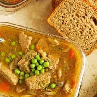 2 hearty winter potluck ideas for work to please the crowd! 2 recipes included: beef stew with onions and soup packed with sausage, buckwheat and beans by ilonaspassion.com I @ilonaspassion