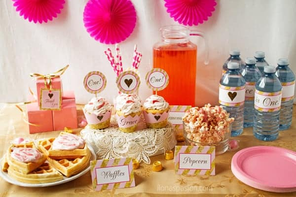 Pink and Gold Party Decorations Ideas Ilonas Passion