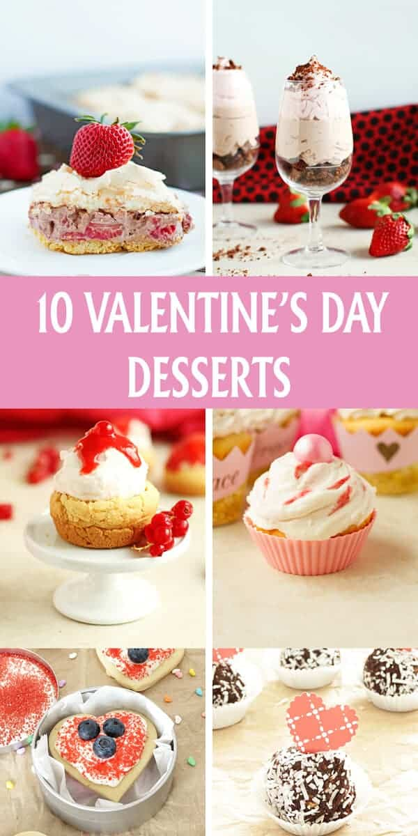 Love is in the air with these scrumptious 10 Valentine's Day desserts including butter cookies, chocolate truffles, mini donuts and more! The BEST recipes! by ilonaspassion.com I@ilonaspassion