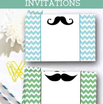 2 free mustache baby shower invitations are perfect for the party. They can be also used for little man birthday party. Two colors to choose from! by ilonaspassion.com