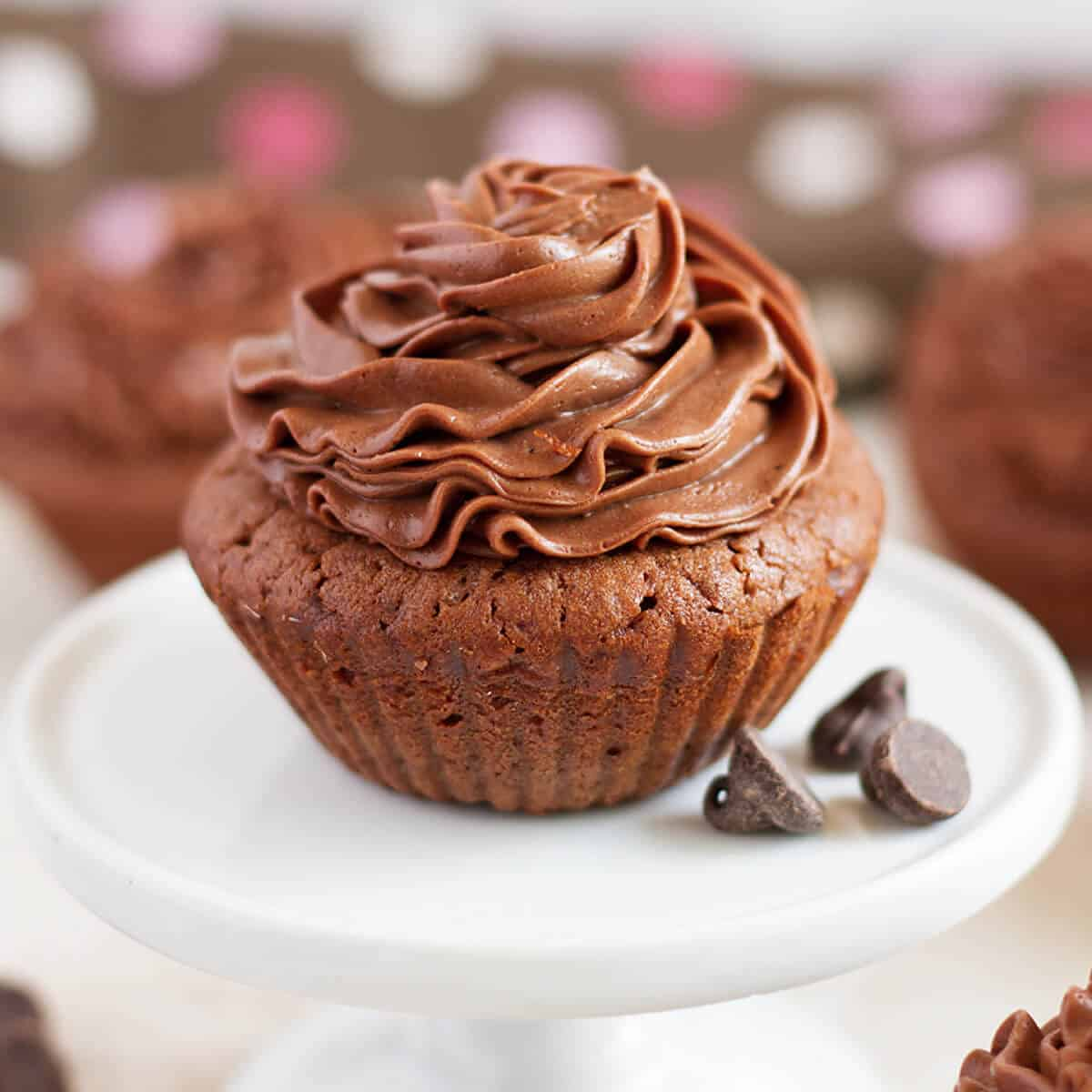 Brownie Cupcakes with Chocolate Frosting - Ilona's Passion
