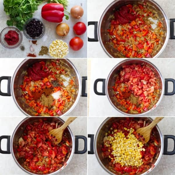 Step by step on how to make black bean soup with vegetables by ilonaspassion.com I @ilonaspassion