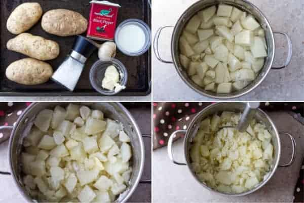 Step by step on how to make mash potato with large potatoes, milk and butter by ilonaspassion.com I @ilonaspassion