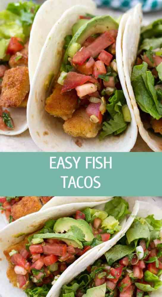 Crispy fried easy fish tacos recipe with tomato salsa, lettuce and cilantro. Full of flavor tacos great for entertaining by ilonaspassion.com I @ilonaspassion