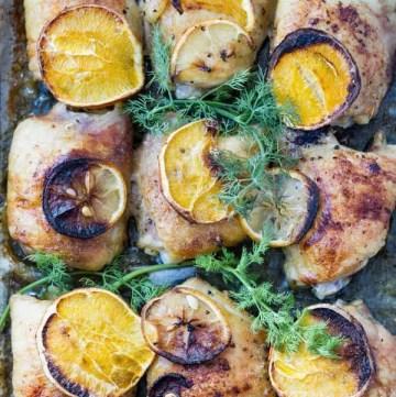 Citrus marinated chicken legs recipe are not fried by ilonaspassion.com I @ilonaspassion