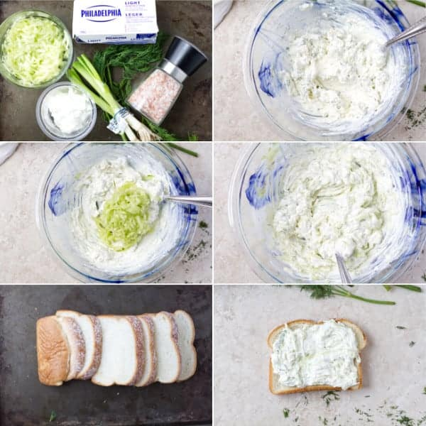 Step by step how to make finger cucumber sandwiches with sour cream, chopped dill and soft bread by ilonaspassion.com I @ilonaspassion.com