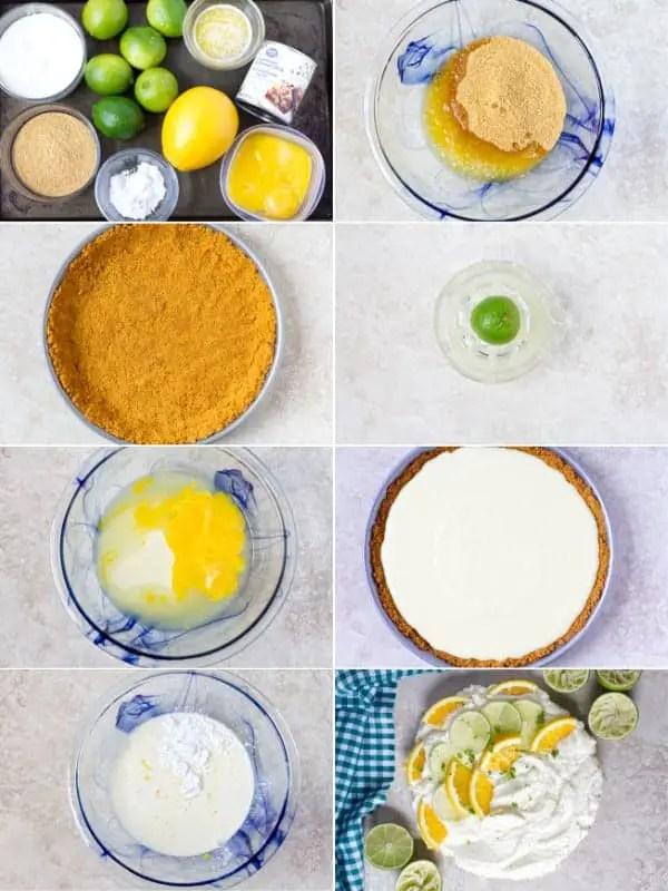 Step by step tutorial how to make key lime pie.