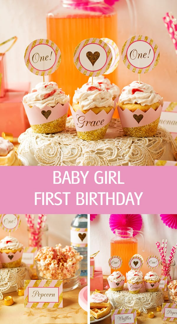 Recipes, ideas and pink decor themes for birthday.