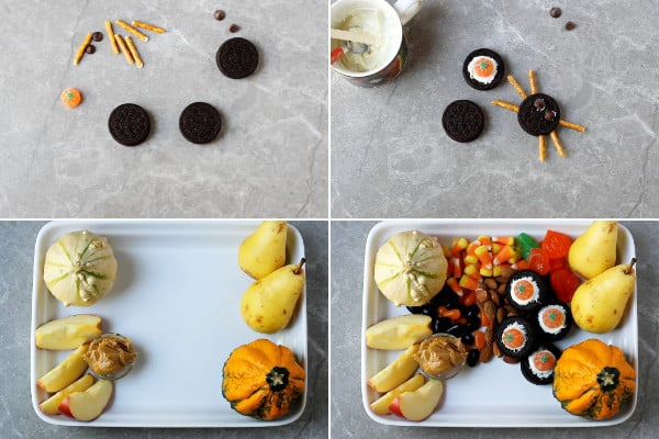 Oreo spiders, fall candies.
