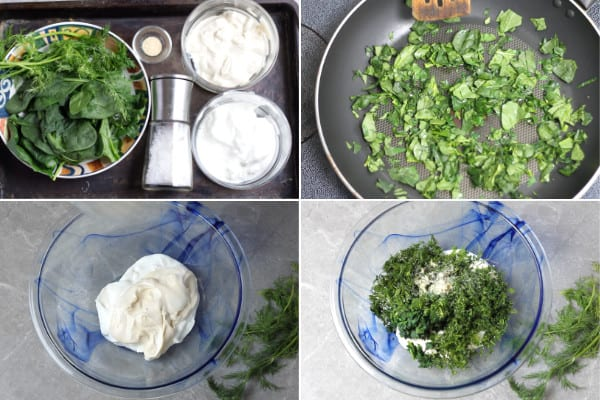 How to make spinach and dill dip.