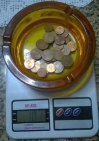 101 g di monetine di rame