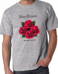 FOUR ROSES GRIS 2 - Camiseta FOUR ROSES Gris
